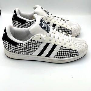 Adidas Superstar Rare Black Strip Shoes.